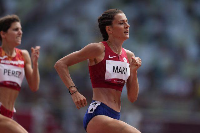 Kristiina Mäki postoupila do finále běhu na 1500 metrů | foto: Martin Sidorják,  ČTK