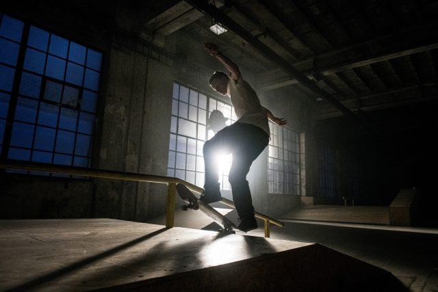 Maxim Habanec ve svém skateparku na Kolbence.